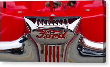 Close-up Of A Classic Car Of Ford Canvas Print