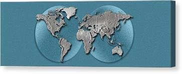 Close-up Of A World Map Canvas Print by Panoramic Images
