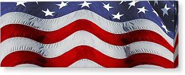 Close-up Of An American Flag Canvas Print by Panoramic Images