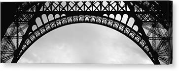 Close Up Of Eiffel Tower, Paris, France Canvas Print by Panoramic Images