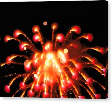 Close Up Of Ignited Fireworks Canvas Print