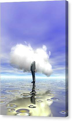 Cloud Computing Canvas Print