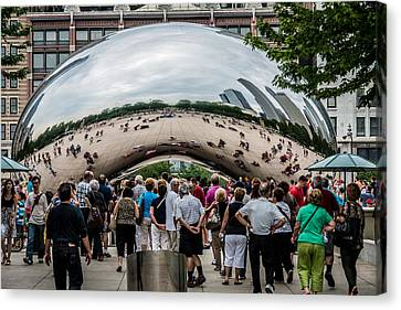 Canvas Print featuring the photograph Cloud Gate by James Howe