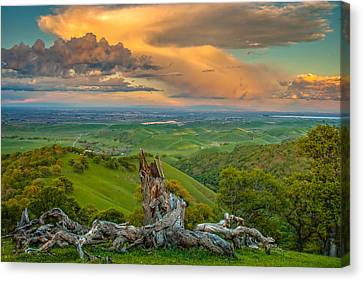 Clouds Over Central Valley At Sunset Canvas Print by Marc Crumpler