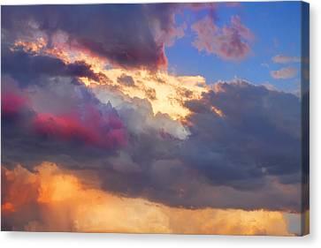 Cloudscape Sunset Touch Of Blue Canvas Print