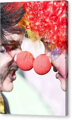 Clowns Face Off Canvas Print