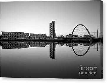City Of Bridges Canvas Print - Clyde Arc by John Farnan