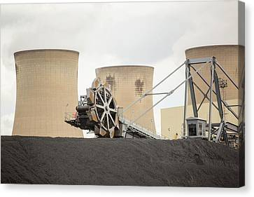 Coal Stock Piles At Drax Power Station Canvas Print