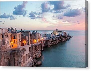 Coastal Village Of Peschici Canvas Print