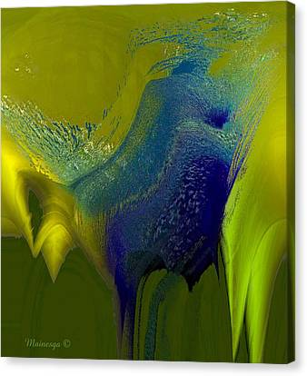 Cobalt-w Canvas Print by Ines Garay-Colomba