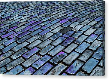 Cobblestones From Ship's Ballast Or Canvas Print by Miva Stock