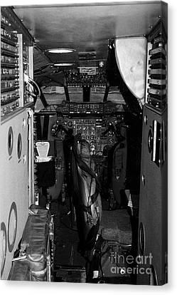 cockpit of the British Airways Concorde Canvas Print