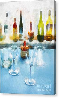 Glass Bottle Canvas Print - Cocktails by HD Connelly