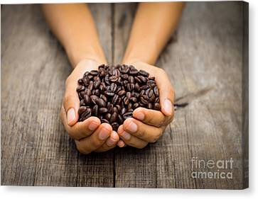 Coffee Beans Canvas Print by Aged Pixel
