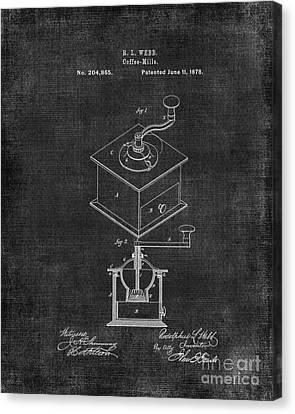 Coffee Grinder Patent Canvas Print by Edit Voros