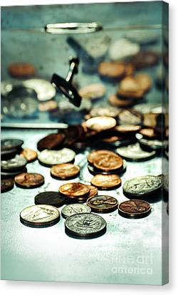 Coins Canvas Print by HD Connelly