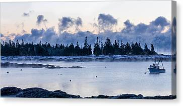 Cold Day Down East Maine Canvas Print