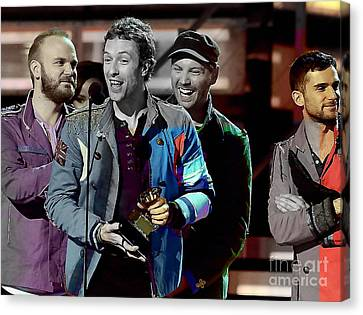 Piano Canvas Print - Coldplay by Marvin Blaine