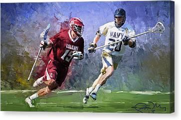 Colgate Lacrosse Canvas Print by Scott Melby