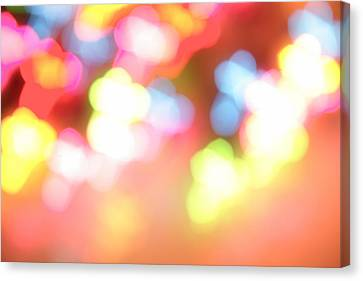 Color Blurs Canvas Print by Les Cunliffe