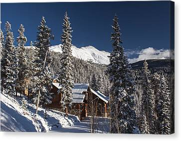 Colorado Mountain House Canvas Print by Michael J Bauer