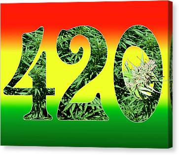 Colorful 420 Art Canvas Print by Stock Pot Images