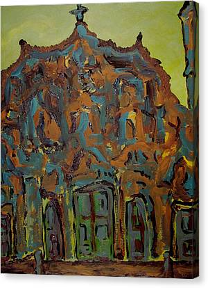 Colorful Church Canvas Print by Oscar Penalber