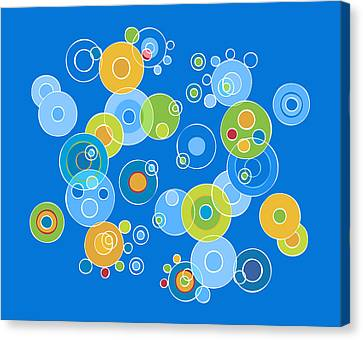 Colorful Circles Canvas Print by Frank Tschakert