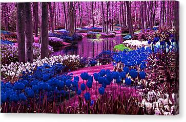 Colorful Flower Garden Canvas Print by Marvin Blaine