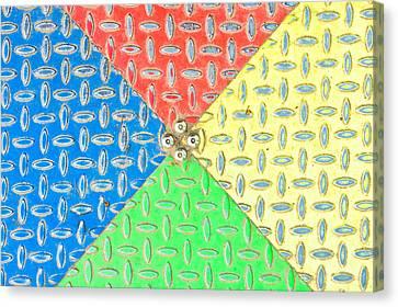Colorful Metal Canvas Print