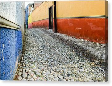 Colorful Mexican Town Canvas Print by Oscar Gutierrez