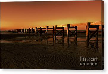 Colorful Pier Canvas Print by Maddalena McDonald
