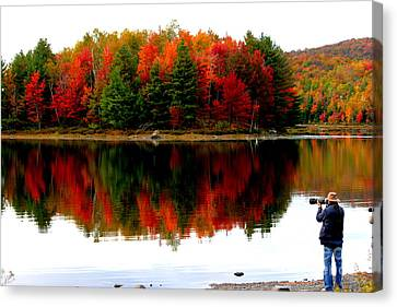 Colorful Reflection Canvas Print by Arie Arik Chen