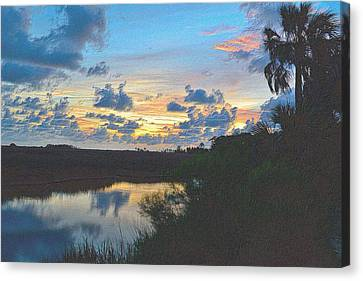 Tropical Sunset Canvas Print - Colorful Sunset 2 by Richard Zentner