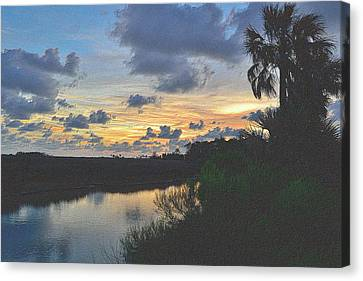 Tropical Sunset Canvas Print - Colorful Sunset 3 by Richard Zentner