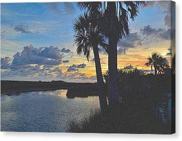 Tropical Sunset Canvas Print - Colorful Sunset 4 by Richard Zentner