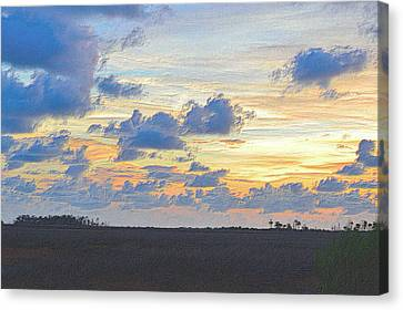 Tropical Sunset Canvas Print - Colorful Sunset 5 by Richard Zentner