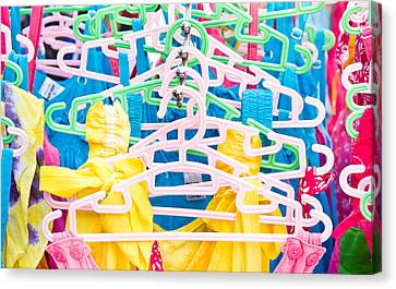Labelled Canvas Print - Colorful Tops by Tom Gowanlock