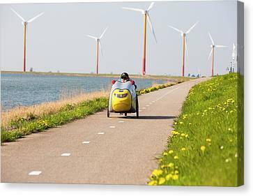 Colourful Wind Turbines Canvas Print