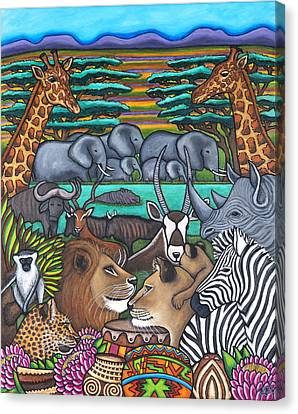 Canvas Print - Colours Of Africa by Lisa  Lorenz