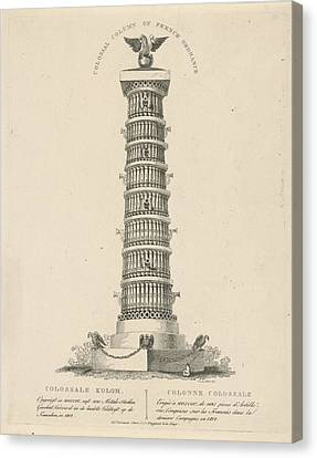 Column In Moscow Russia, Christian Anthony Lotter Canvas Print by Quint Lox