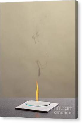Combustion Of An Alkene Canvas Print by Martyn F. Chillmaid