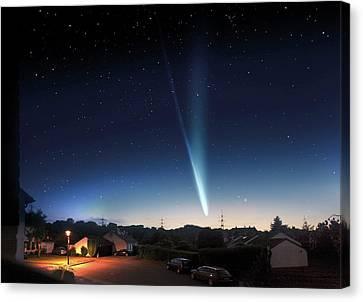 21st Century Canvas Print - Comet Ison by Detlev Van Ravenswaay