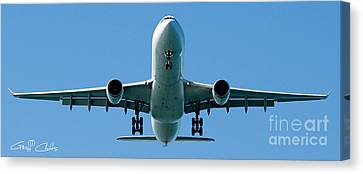 Commercial Aircraft At Sydney Airport Canvas Print