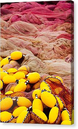 Commercial Fishing Nets With Floats Canvas Print by Panoramic Images