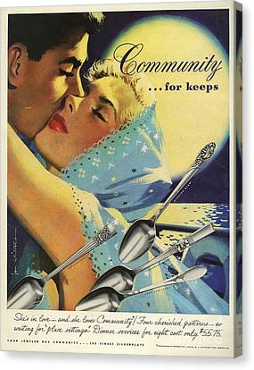 Community Cutlery  1952  1950s Usa Canvas Print by The Advertising Archives