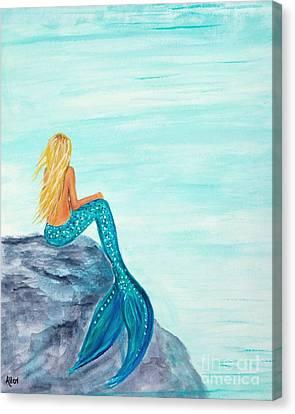 Complete Peace Canvas Print by Leslie Allen