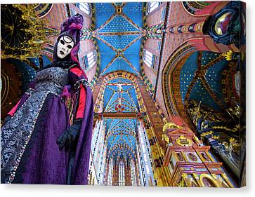 Composite Of Woman In Carnival Costume Canvas Print