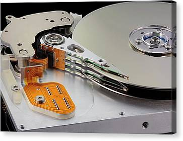 Computer Hard Disc Canvas Print by Antonio Romero