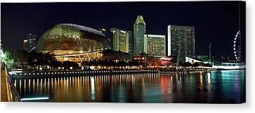 Concert Hall At The Waterfront Canvas Print by Panoramic Images